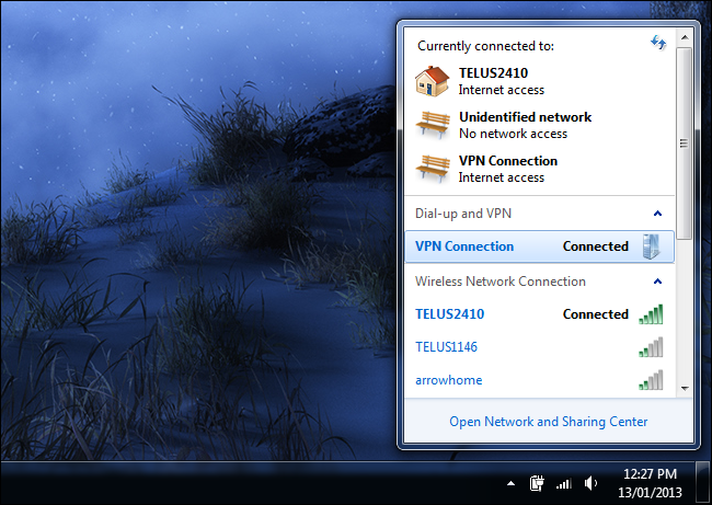 plusieurs réseaux privés virtuels configurés