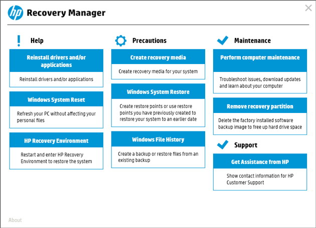 recuperation-hp-recovery-manager