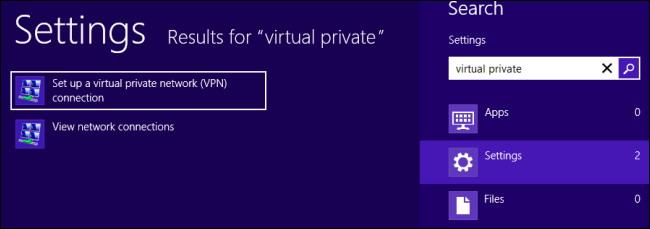 se connecter à un VPN sur Windows 8