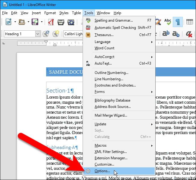 comment faire pour modifier le format de fichier par d u00e9faut dans libreoffice