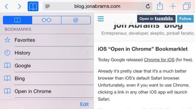 Ouvrir dans Chrome