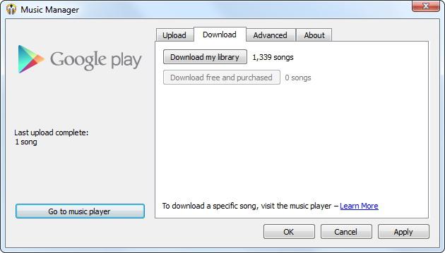 Télécharger Google Music Manager