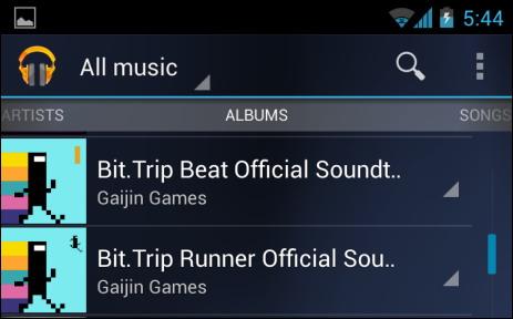 Toute la musique en musique sur android