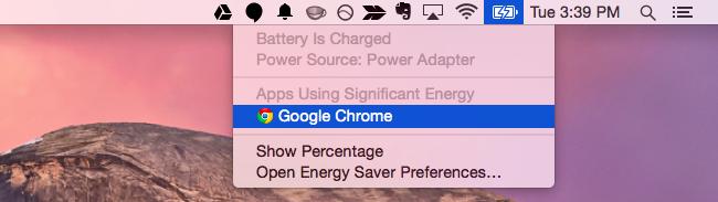 Voir Per-App Utilisation de l'énergie