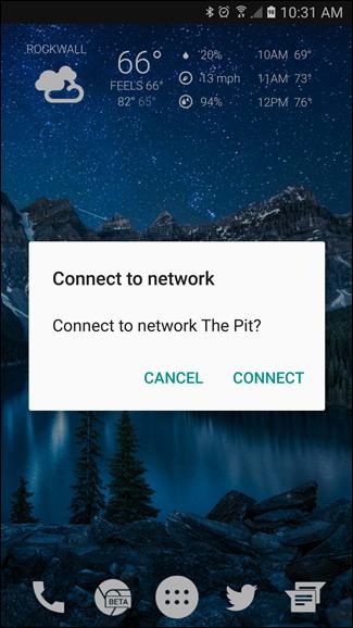connecté à votre réseau