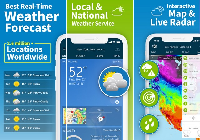 WeatherBug - application météo