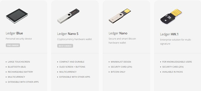 ledger-bitcoin-wallets