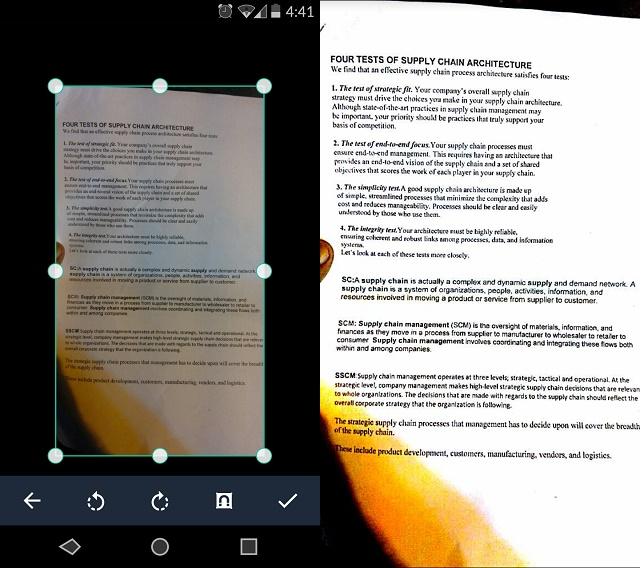 Une Application Facile Utiliser Du Scanner Mobile CamScanner Est Interface Intuitive Et Bien Connue Pour Android