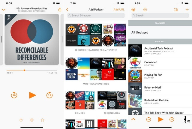 Overcast - Application de Podcast