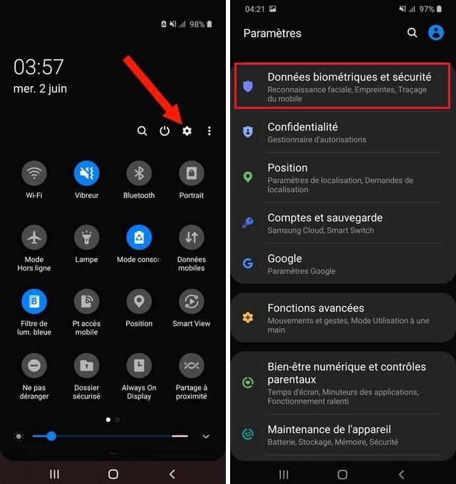Données biométriques et sécurité Android