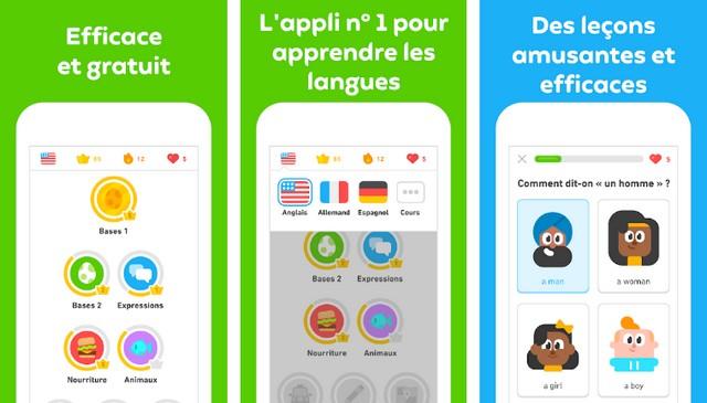 Duolingo - meilleure application éducatives