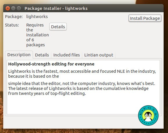 Comment installer Lightworks