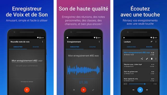 Enregistreur de Voix Facile - applications enregistreur vocal