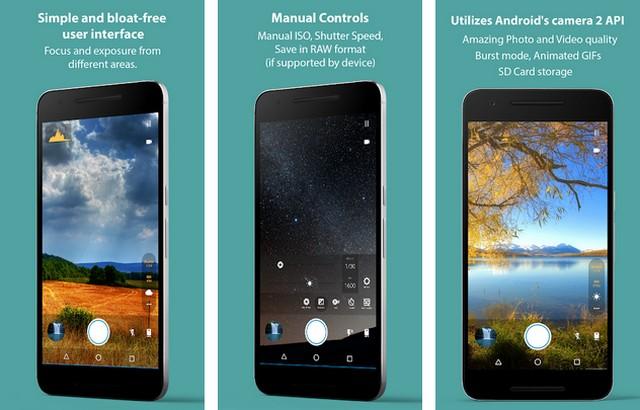Footej Camera - applications pour créer des GIF