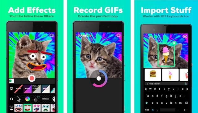 Giphy Cam - applications pour créer des GIF