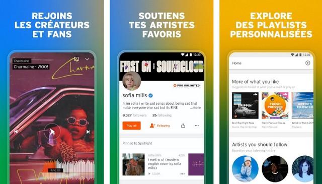 SoundCloud - meilleure alternative à Spotify