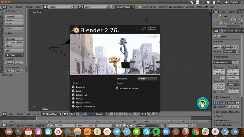 Blender - video editing software for Linux