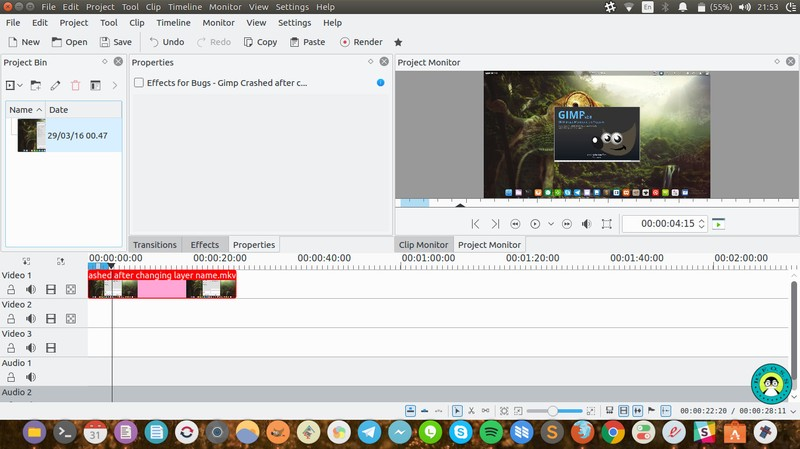 Kdenlive - video editing software for Linux