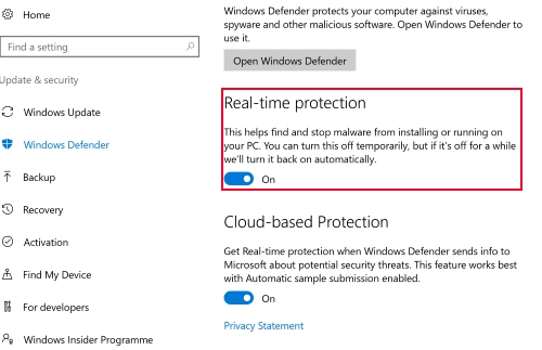 améliorer windows defender