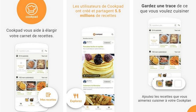 Cookpad - application de cuisine pour Android