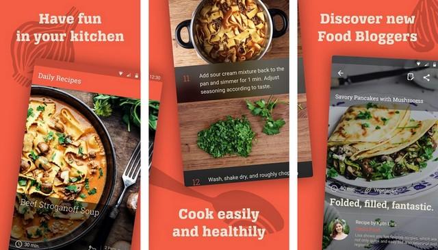 KptnCook - application de cuisine pour Android