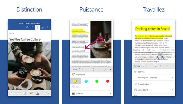 Microsoft Office - applications de bureautique