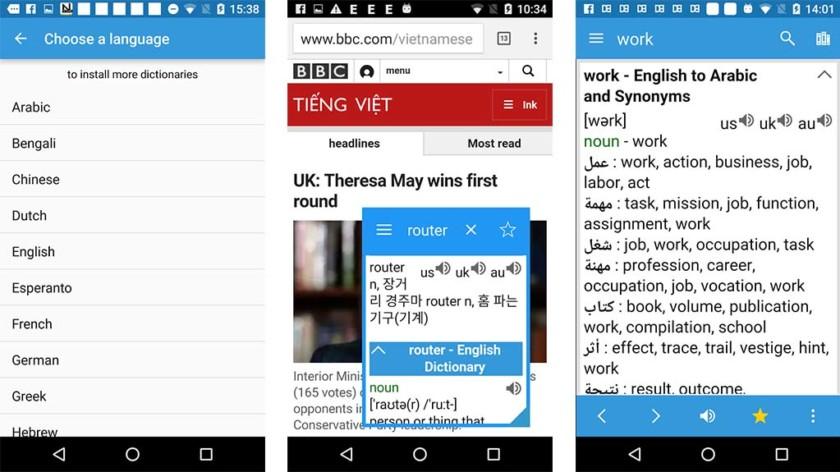Offline Dictionary - application de dictionnaire