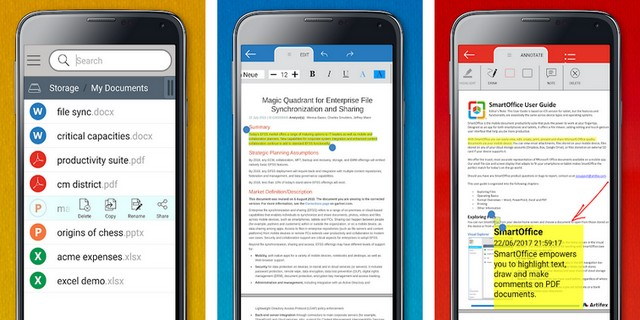 SmartOffice - applications de bureautique