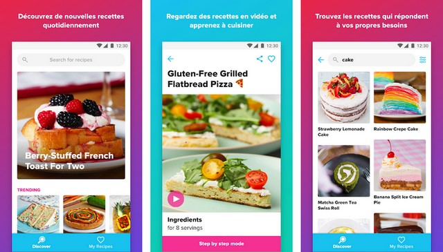 Tasty - application de cuisine pour Android