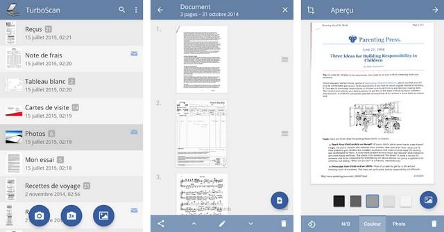 TurboScan - application de numérisation de documents