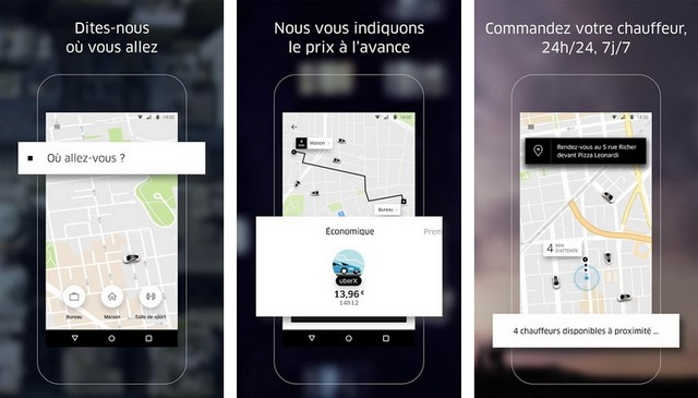 Uber - Application de transports en commun