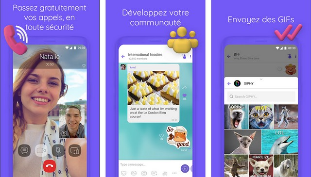 Viber Messenger - meilleure application VoIP