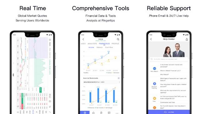 Webull - applications d'investissement