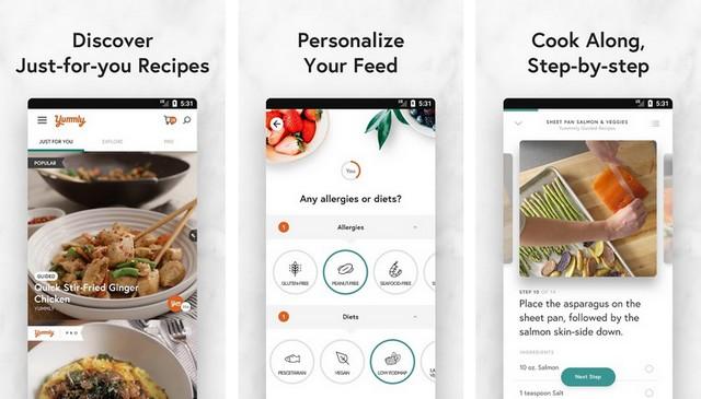 Yummly - application de cuisine pour Android