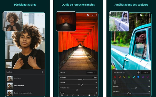 Adobe Lightroom - application Android pour les artistes