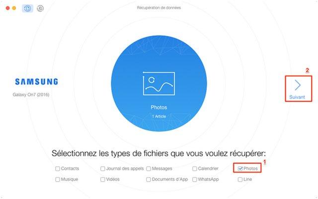 Choisissez les types de fichiers et le mode d'analyse