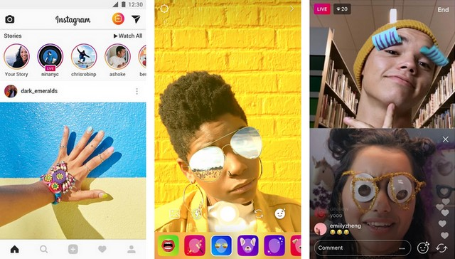 Instagram - application comme Snapchat