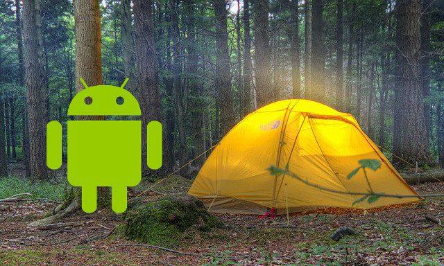 Les meilleures applications Android pour le camping