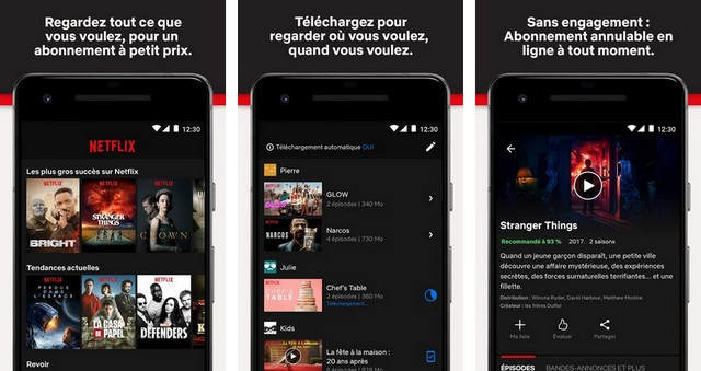 Netflix - applications pour Android TV