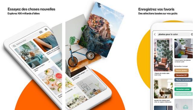Pinterest - meilleure application comme Instagram