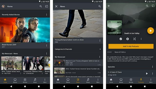 Plex - Applications pour Android TV