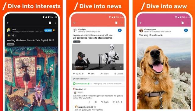 Reddit - best app like Instagram