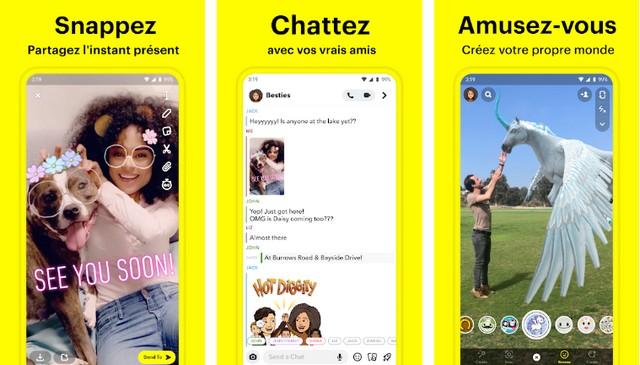 Snapchat - meilleure application comme Instagram