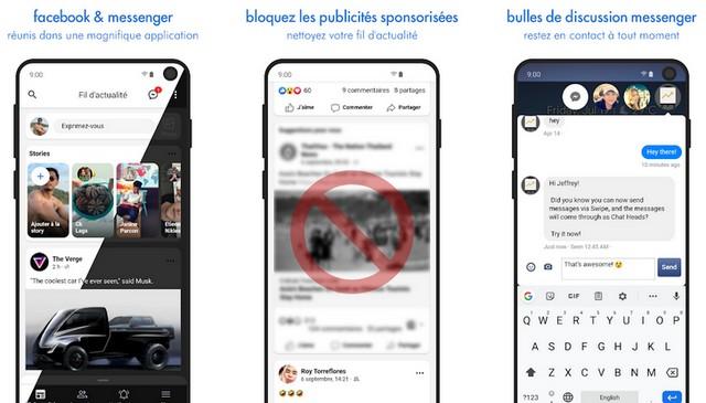 Swipe pour Facebook