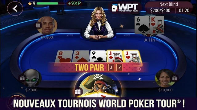 Zynga Poker - meilleure jeu de casino sur Android