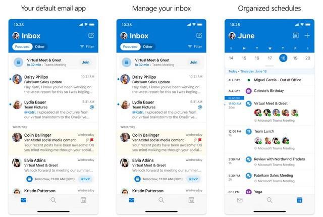 Microsoft Outlook - meilleure application de messagerie