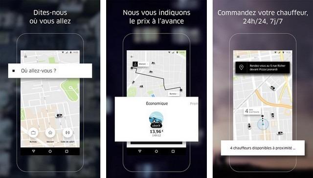 Uber - applications pour gagner de l'argent