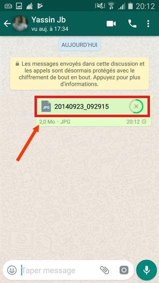 Comment envoyer des images sans compression sur WhatsApp