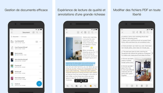 Foxit PDF Reader - application de lecteur PDF