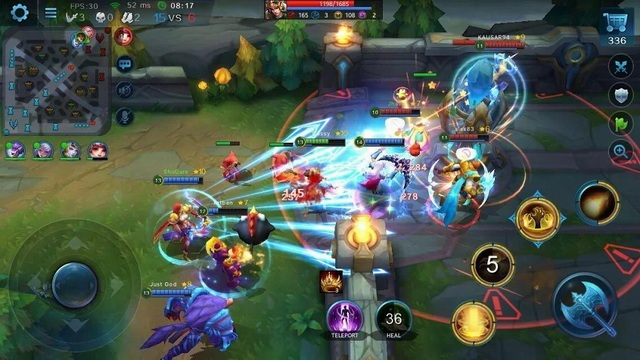 Heroes Evolved - jeu MOBA sur Android
